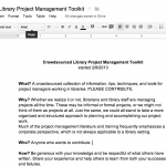 Crowdsourced Project Management Toolkit