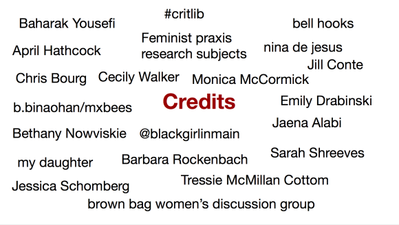 Credits, Oberlin Digital Scholarship Keynote