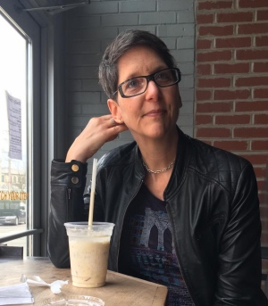 Jennifer Vinopal, thinking about the milkshake in front of her.